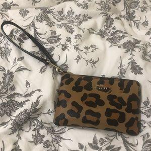 Cheetah Print Coach Wristlet
